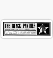 The black panthers party news paper sticker Sticker