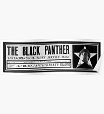 The black panthers party news paper sticker Poster