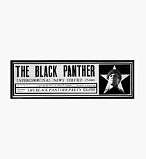The black panthers party news paper sticker Photographic Print