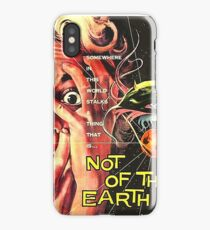 Not of this world, science fiction, horror movie poster iPhone Case/Skin