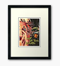 Not of this world, science fiction, horror movie poster Framed Print