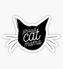 Proud Cat Mama Sticker