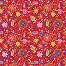 Folksy Floral-Red by kathy-o