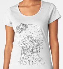 Interstellar Bounty Hunter Old School Gamer Women's Premium T-Shirt