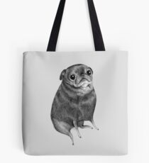 Sweet Black Pug Tote Bag