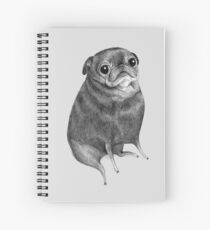 Sweet Black Pug Spiral Notebook