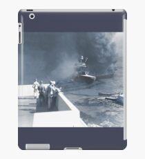 Men Evacuate USS California at Pearl Harbor  iPad Case/Skin