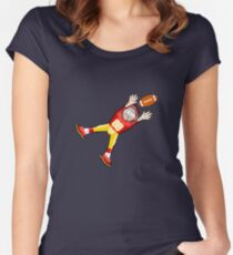 American Football Cartoon Style 27/41 Women's Fitted Scoop T-Shirt