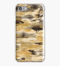 Black Ink and Golden Glitter iPhone Case/Skin