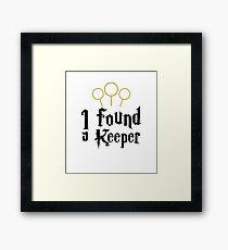 I Found a Keeper Framed Print