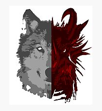The Wolf and the Dragon Photographic Print