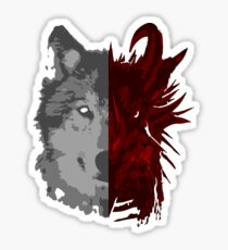 The Wolf and the Dragon Sticker