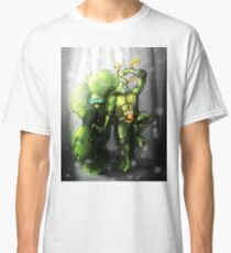 Mikey and the Monster - TMNT Digitally Colored Pencil Drawing Classic T-Shirt