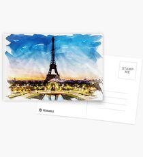 PARIS, France - Beautiful Earth [Custom Digital Artwork] Postcards