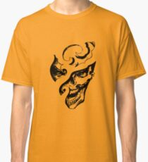 Carved Laughing Gothic Skull Graphic T-shirt Collections Classic T-Shirt