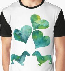 Dachshund Art Graphic T-Shirt