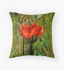 Western Wood Lily Throw Pillow
