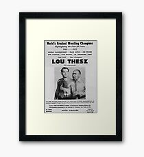 Lou Thesz Promotional Poster Framed Print