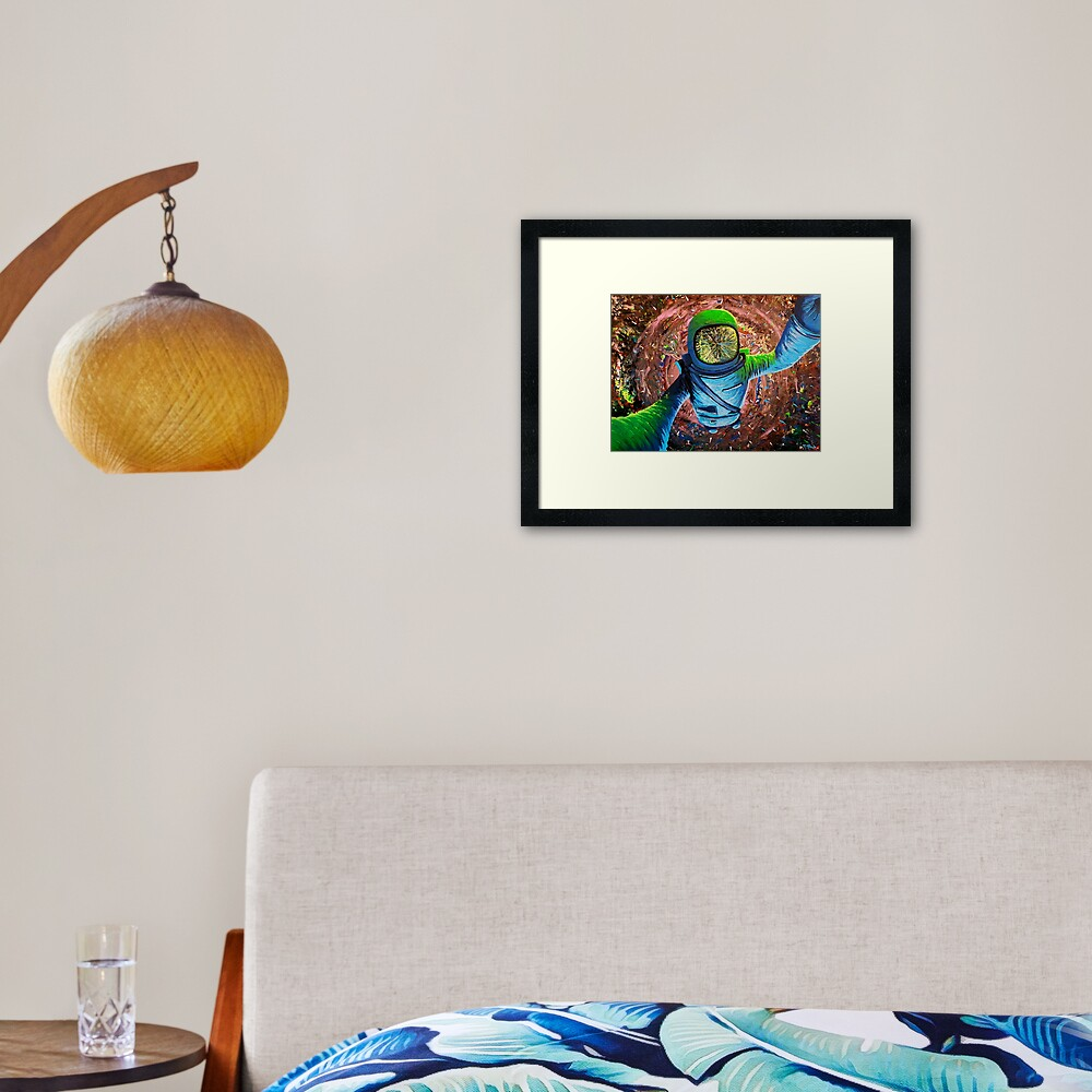 """Falling Into Infinite"" Framed Art Print"