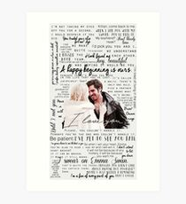 57. CaptainSwan quotes (JEN HAS HELD ONE OF THESE CASES AT A CON) Art Print