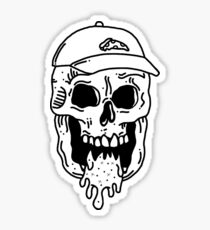 Pizza Skull Sticker