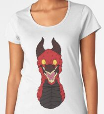 Angry Red Traditional Dragon Women's Premium T-Shirt