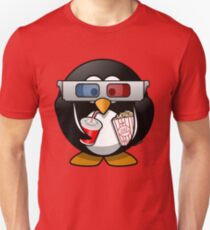 MOVIES AND CHILL 3-D PENGUIN FUNNY T-Shirt