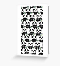PandiCorn Pattern Greeting Card