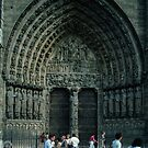 Centre Door Facade Notre Dame Paris 19840818 0048  by Fred Mitchell