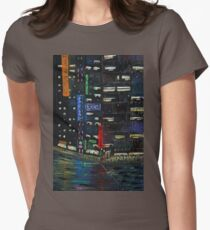 Cyberpunk City Painting Womens Fitted T-Shirt