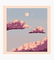 Pastel clouds and night sky Photographic Print