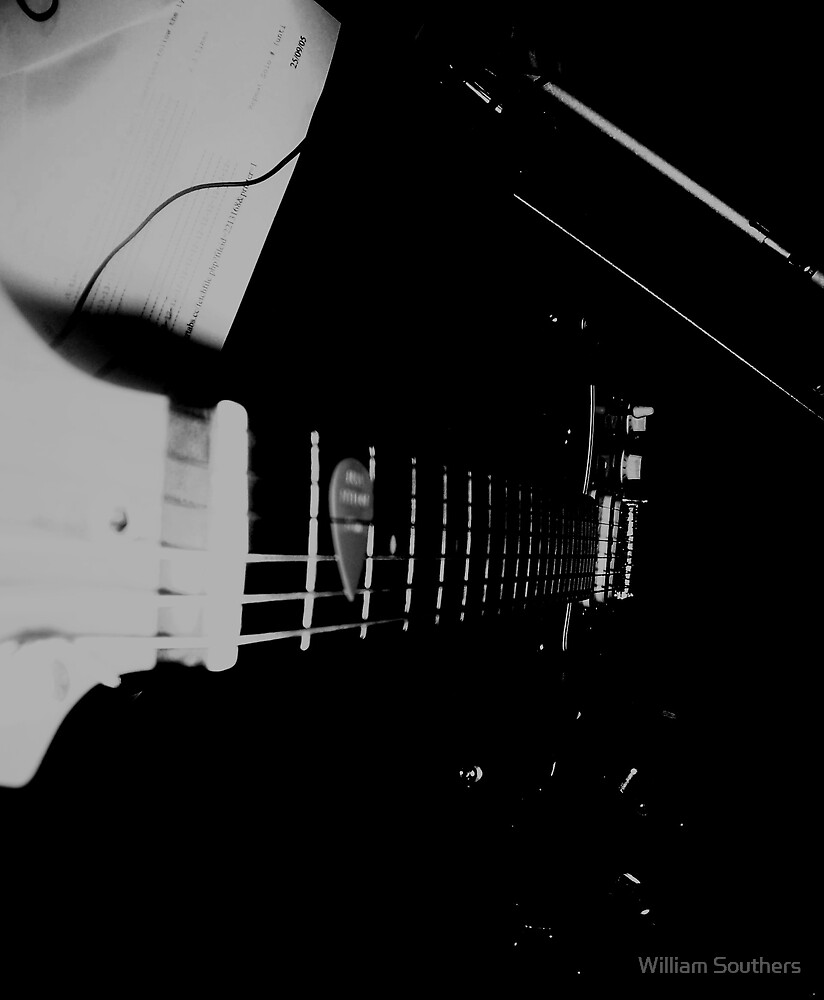 Guitar: 4 (B&W) by William Southers