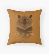Gorgeous Crookshanks Throw Pillow
