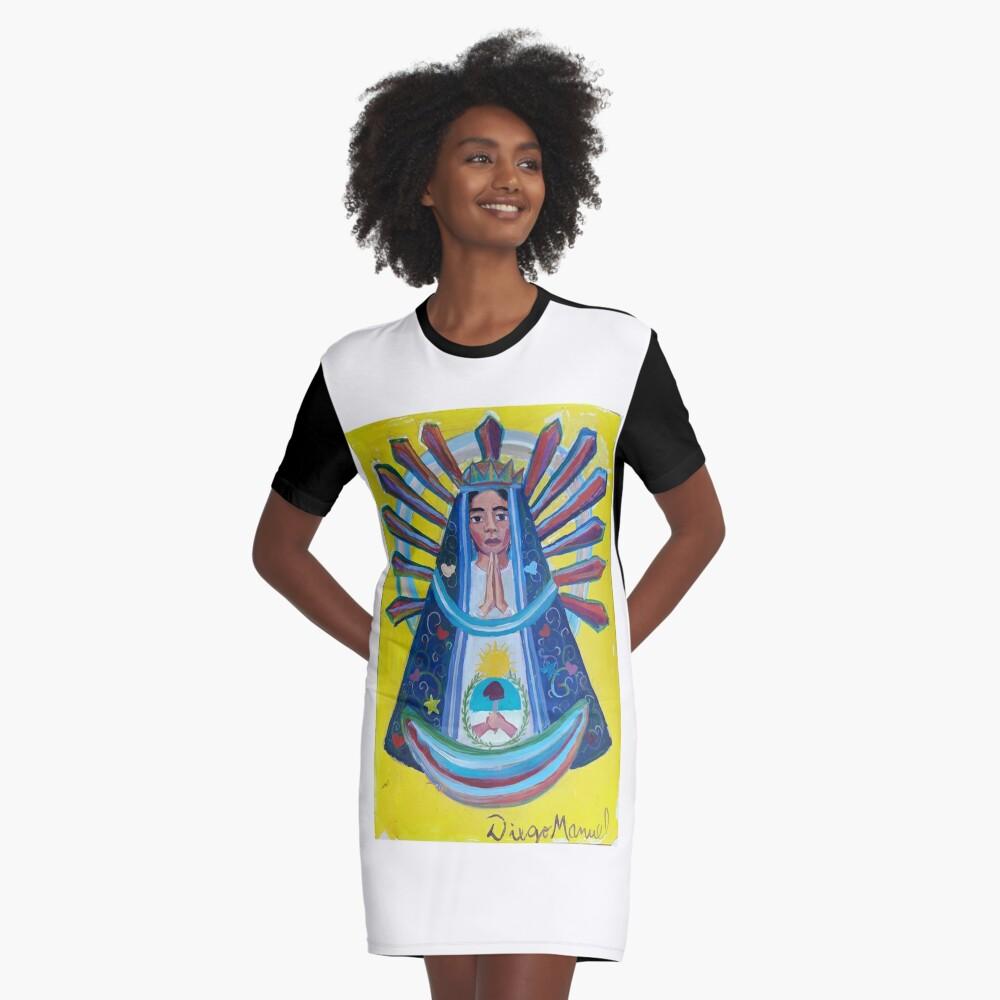 Virgin of Lujan (1B) Graphic T-Shirt Dress