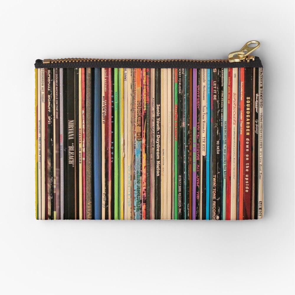 Classic Alternative Rock Records Zipper Pouch