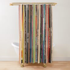 Classic Alternative Rock Records Shower Curtain