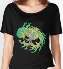 Mythical, forest, green dragon Women's Relaxed Fit T-Shirt