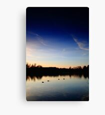 Sunset at Tiddenfoot Waterside Park Canvas Print