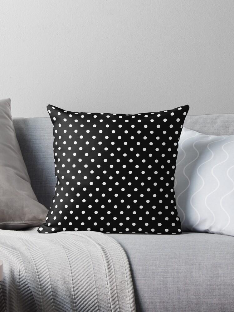 Black and White Polka Dot Spotty Pattern by TigerLynx