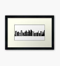 Denver Skyline Framed Print