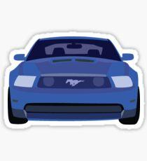 Blue Mustang  Sticker