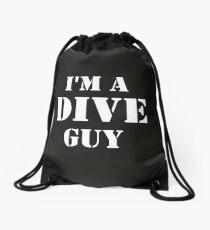 Dive Guy Drawstring Bag