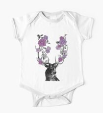 The Stag and Roses One Piece - Short Sleeve