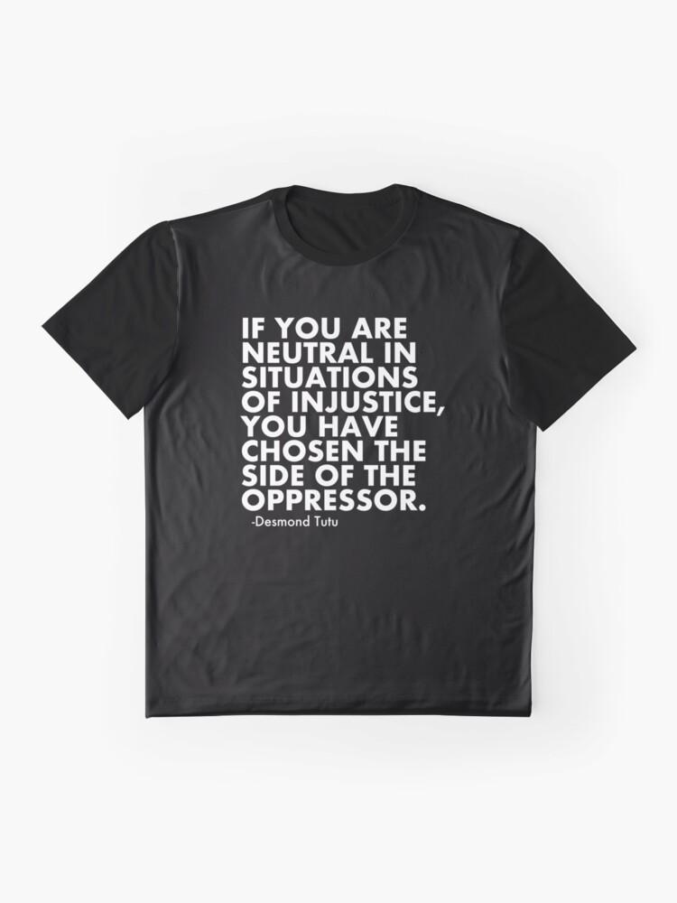 Alternative Ansicht von Menschenrechtszitat protestieren politisch Grafik T-Shirt