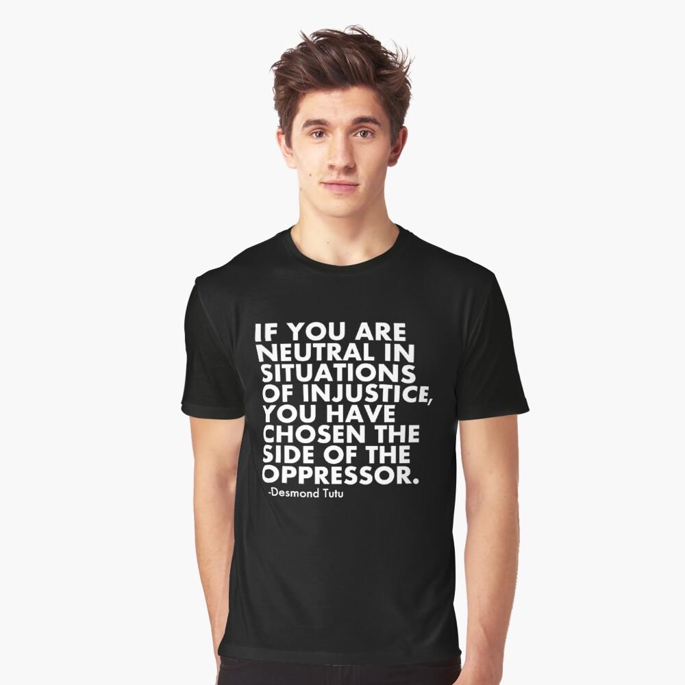 Menschenrechtszitat protestieren politisch Grafik T-Shirt