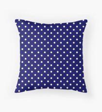 Cojín Navy Blue and White Spotty Polka Dot Pattern