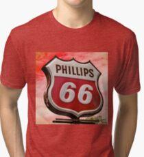 Phillips 66 - Sunset Tri-blend T-Shirt