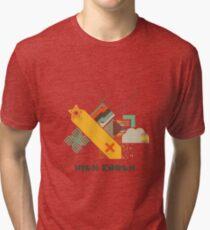 High Enough Retro art Tri-blend T-Shirt
