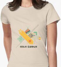 High Enough Retro art Women's Fitted T-Shirt