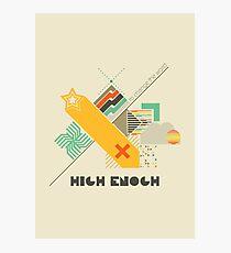 High Enough Retro art Photographic Print